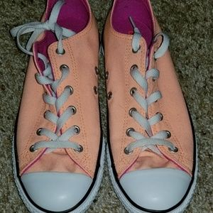 Bright orange kids converse